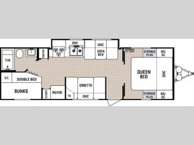 Floorplan - 2005 Dutchmen RV Lite 28 G-SL