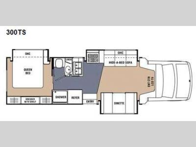 Floorplan - 2010 Coachmen RV Concord 300TS