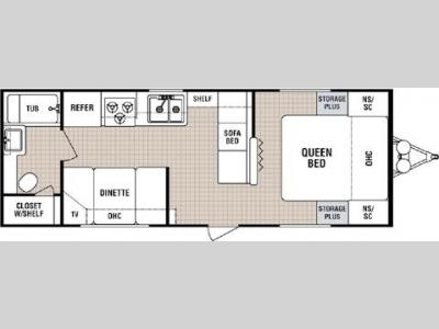 Floorplan - 2005 Dutchmen RV Lite 25 F