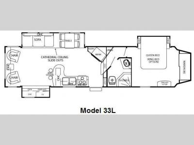 Floorplan - 2010 Forest River RV Cedar Creek Silverback 33L