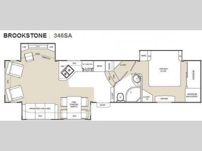 Floorplan - 2010 Coachmen RV Brookstone 346SA