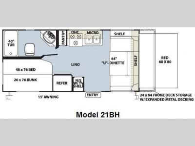 Floorplan - 2010 Forest River RV Rockwood Roo 21BH