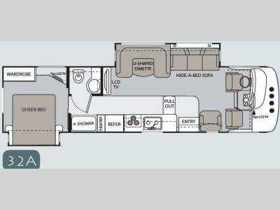 Floorplan - 2010 Four Winds RV Windsport 32A