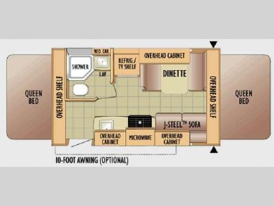Floorplan - 2010 Jayco Jay Feather Ex-Port 17Z
