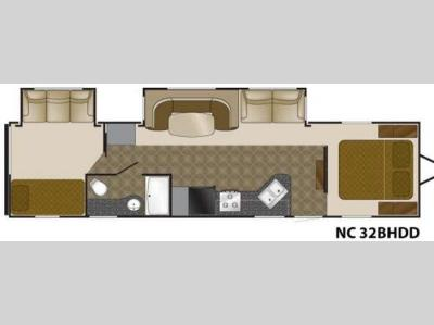 Floorplan - 2011 Heartland North Country 32BHDD
