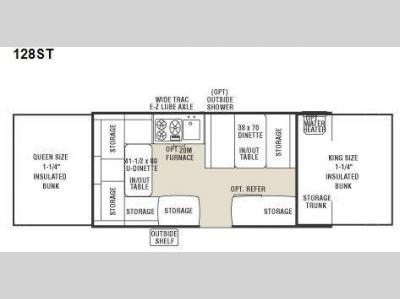 Floorplan - 2010 Coachmen RV Clipper Sport 128ST