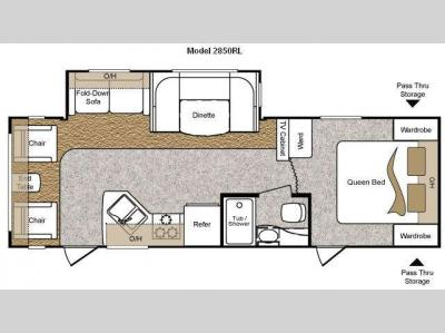 Floorplan - 2010 Keystone RV Passport 2850RL