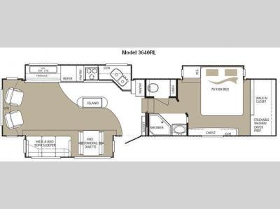 Floorplan - 2010 Keystone RV Alpine 3640RL