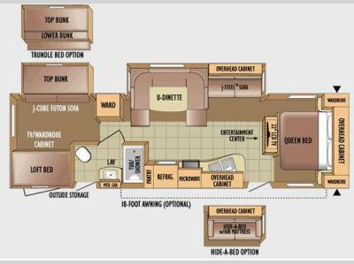 Floorplan - 2010 Jayco Eagle Super Lite 314BDS