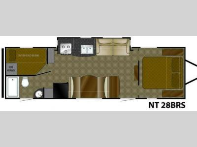 Floorplan - 2010 Heartland North Trail 28BRS
