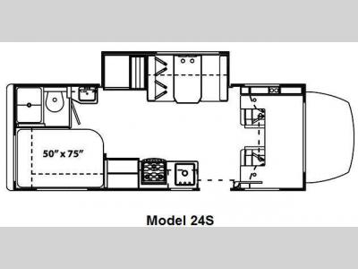 Floorplan - 2010 Forest River RV Solera 24S