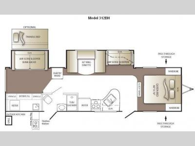 Floorplan - 2010 Keystone RV Outback 312BH