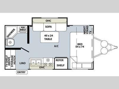 Floorplan - 2010 Forest River RV Rockwood Mini Lite 1809S