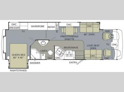 Floorplan - 2010 Monaco Monarch 35 SFD