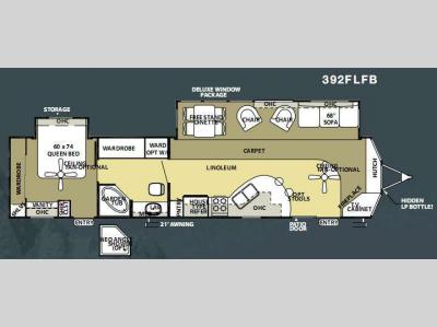Floorplan - 2010 Forest River RV Salem Villa Estate 392FLFB