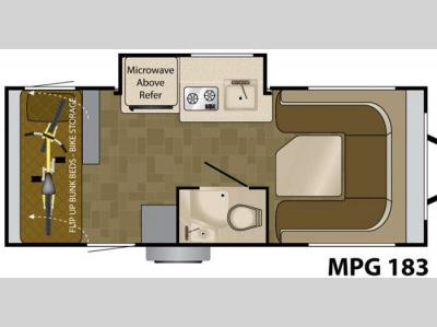 Floorplan - 2011 Heartland MPG 183