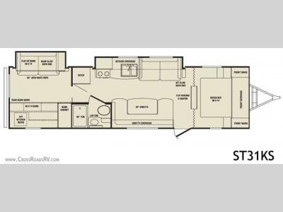 Floorplan - 2010 CrossRoads RV Sunset Trail ST31KS