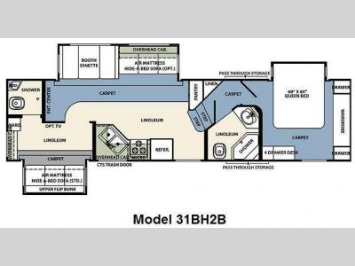 Floorplan - 2011 Forest River RV Wildcat 31BH2B