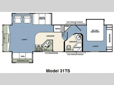 Floorplan - 2011 Forest River RV Wildcat 31TS
