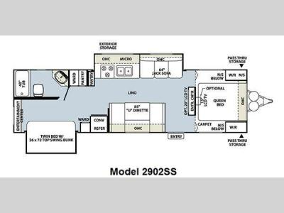 Floorplan - 2011 Forest River RV Rockwood Ultra Lite 2902SS