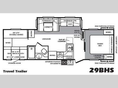 Floorplan - 2011 Forest River RV Wildcat extraLite 29BHS