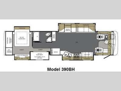 Floorplan - 2011 Forest River RV Berkshire 390BH