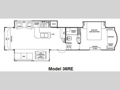 Floorplan - 2011 Forest River RV Cedar Creek 36RE