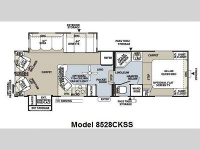 Floorplan - 2011 Forest River RV Flagstaff Classic Super Lite 8528CKSS
