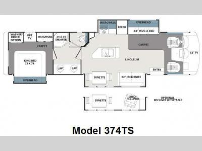 Floorplan - 2011 Forest River RV Georgetown 374TS