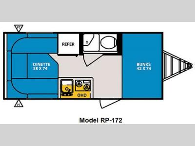 Floorplan - 2011 Forest River RV R Pod RP-172