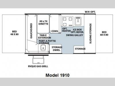 Floorplan - 2011 Forest River RV Rockwood Freedom LTD Series 1910