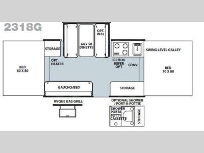 Floorplan - 2011 Forest River RV Rockwood Freedom LTD Series 2318G