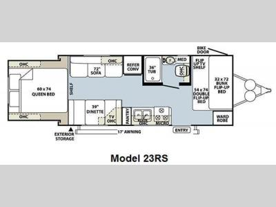 Floorplan - 2011 Forest River RV Rockwood Roo 23RS