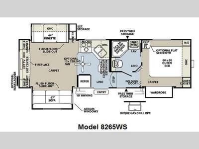 Floorplan - 2011 Forest River RV Rockwood Signature Ultra Lite 8265WS