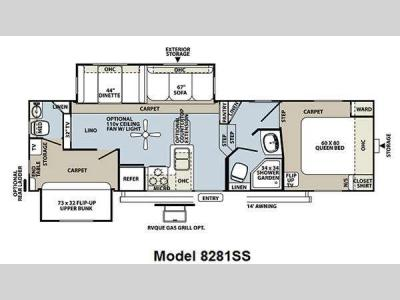 Floorplan - 2011 Forest River RV Rockwood Signature Ultra Lite 8281SS