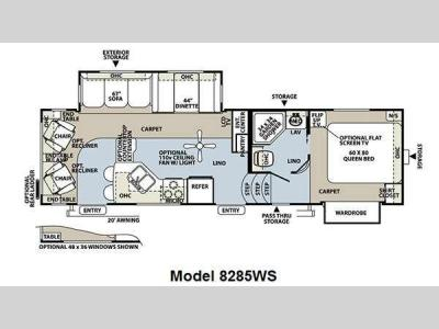 Floorplan - 2011 Forest River RV Rockwood Signature Ultra Lite 8285WS