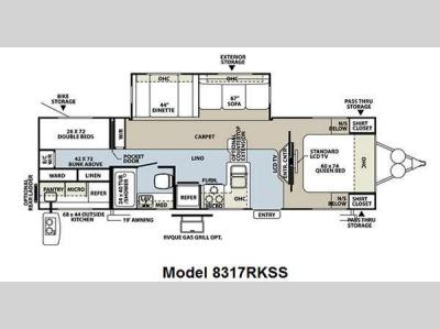 Floorplan - 2011 Forest River RV Rockwood Signature Ultra Lite 8317RKSS