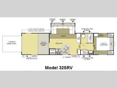 Floorplan - 2011 Forest River RV Salem Sport XL 32SRV