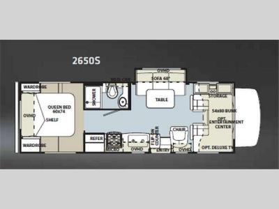 Floorplan - 2011 Forest River RV Sunseeker 2650S