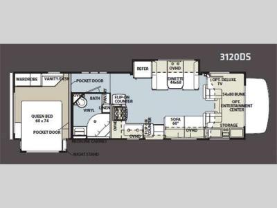 Floorplan - 2011 Forest River RV Sunseeker 3120DS