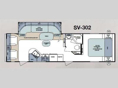 Floorplan - 2011 Forest River RV Surveyor Select SV-302