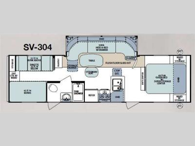Floorplan - 2011 Forest River RV Surveyor Select SV-304