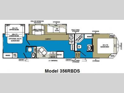 Floorplan - 2011 Forest River RV Wildwood Heritage Glen 356RBDS