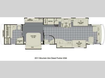 Floorplan - 2011 Newmar Mountain Aire 4344
