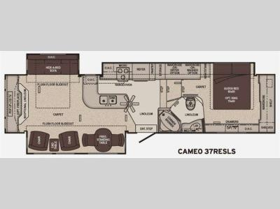 Floorplan - 2011 Carriage Cameo 37RESLS