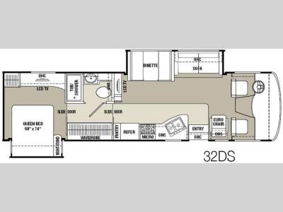 Floorplan - 2011 Coachmen RV Mirada 32DS
