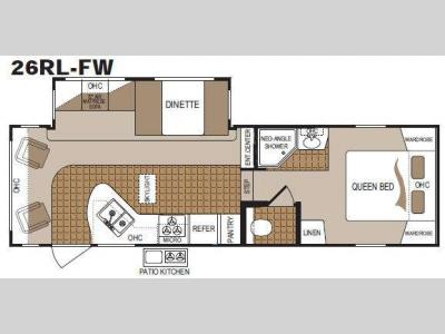 Floorplan - 2011 Dutchmen RV Colorado 260RL-FW