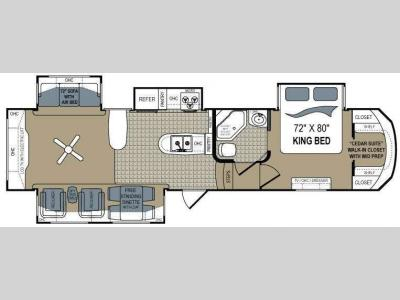 Floorplan - 2011 Dutchmen RV Grand Junction 347RE