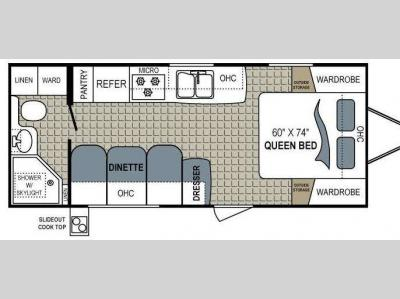 Floorplan - 2011 Dutchmen RV Aerolite 195QB