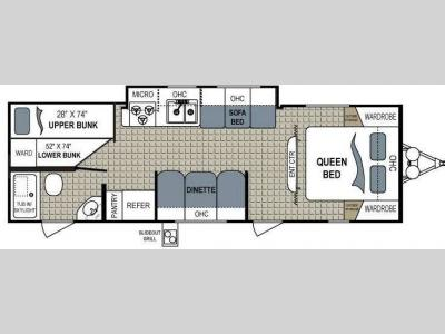 Floorplan - 2011 Dutchmen RV Aerolite 285BHGS